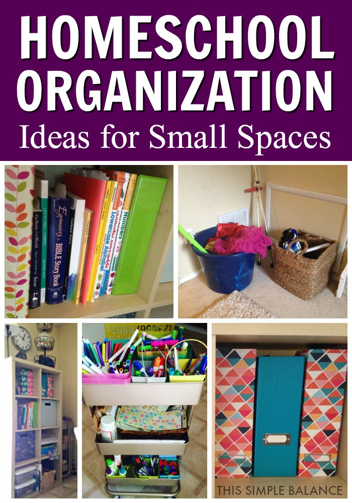 Homeschool Organization Ideas for Small Spaces: When you are homeschooling in a tiny house, you might be losing your mind! Get these organization ideas to tame the homeschool chaos, especially perfect for a small house. #homeschoolspaces #homeschoolorganization