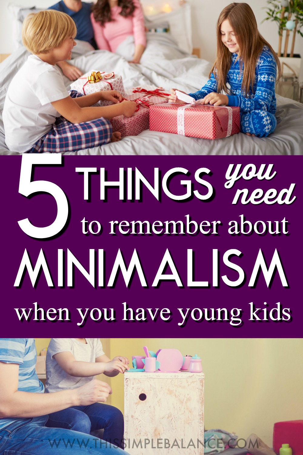 If you became a minimalist after having kids, figuring out how to actually do minimalism with kids can be tricky - it can even lead to disillusionment with minimalism. Moms trying to live a minimalist lifestyle with kids need to keep these 5 things in mind. #minimalismwithkids #minimalist