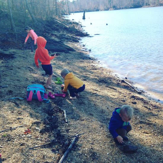 nature walks are the beginning of nature journaling for kids