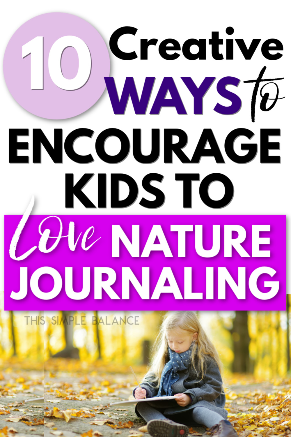 child nature journaling