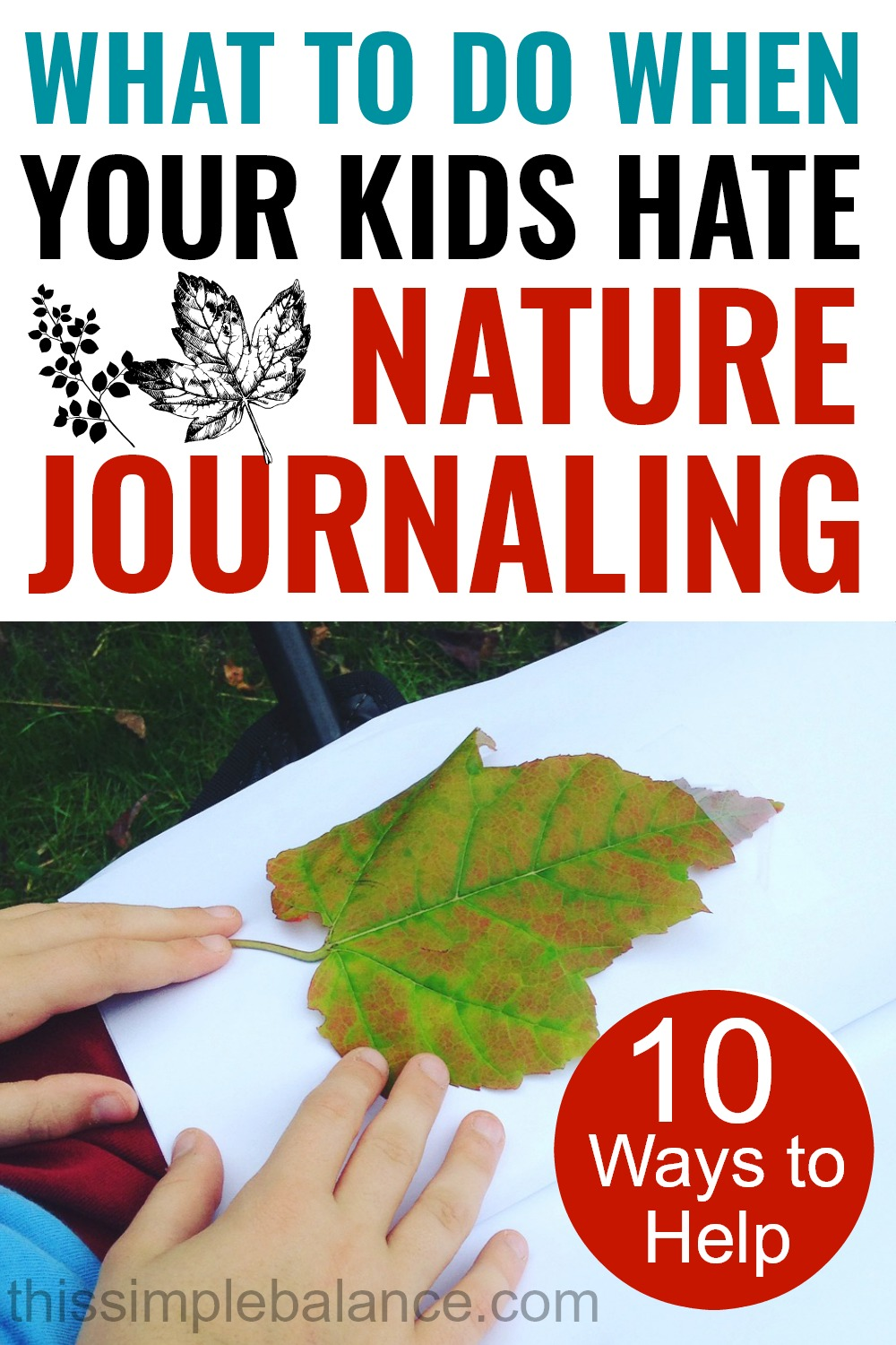 Nature Journaling for Kids: Ideas for Kids Who Don't Love Nature Journaling. 10 Things You Can Change to Make Them Love It!