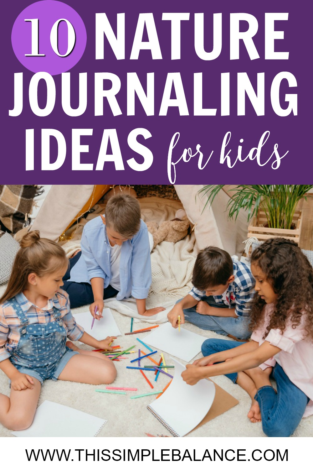 Nature Journaling Ideas for Kids: Use these 10 ideas to change things up and peak your child's interest in nature journaling (especially when he isn't that excited about it).