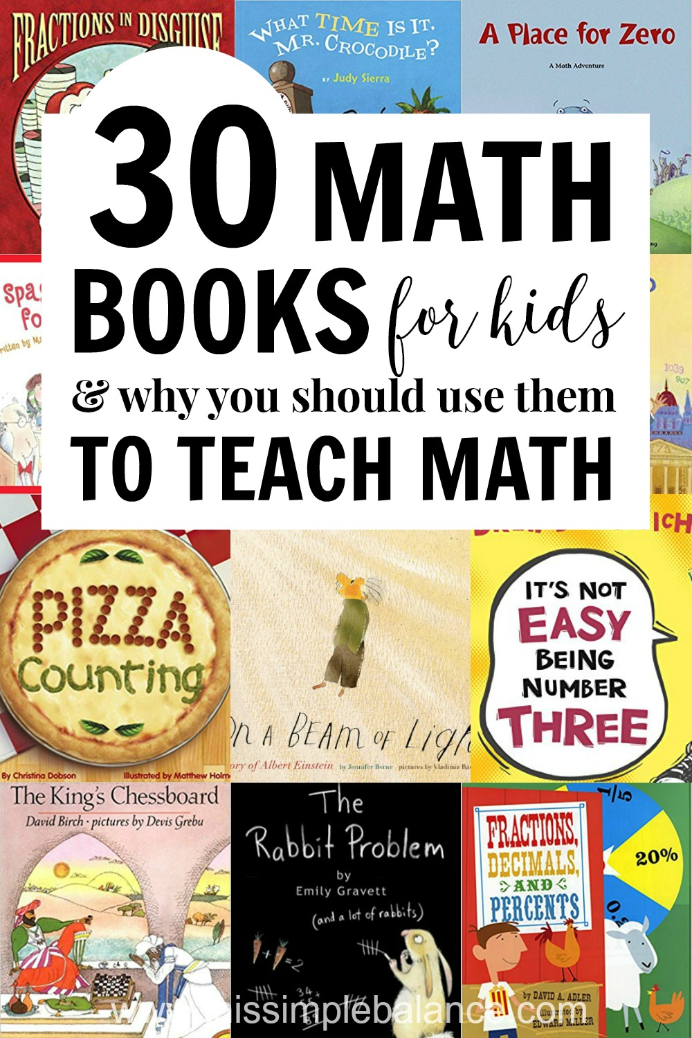 30 Math Books for Kids (and good reasons to use picture books to teach elementary math).