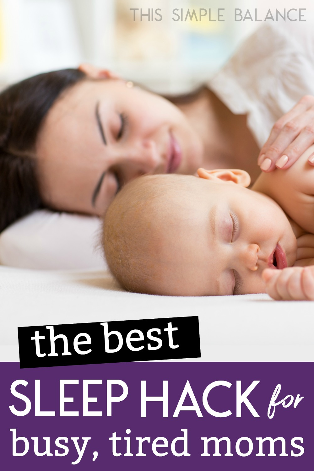 Co-sleeping is something I didn't try until baby #3, and BOY was I missing out on getting more sleep as a mom of littles! Don't miss this sleep tip that could make a HUGE difference in how rested you feel as a busy mom. #parentingtips #momadvice #momlife