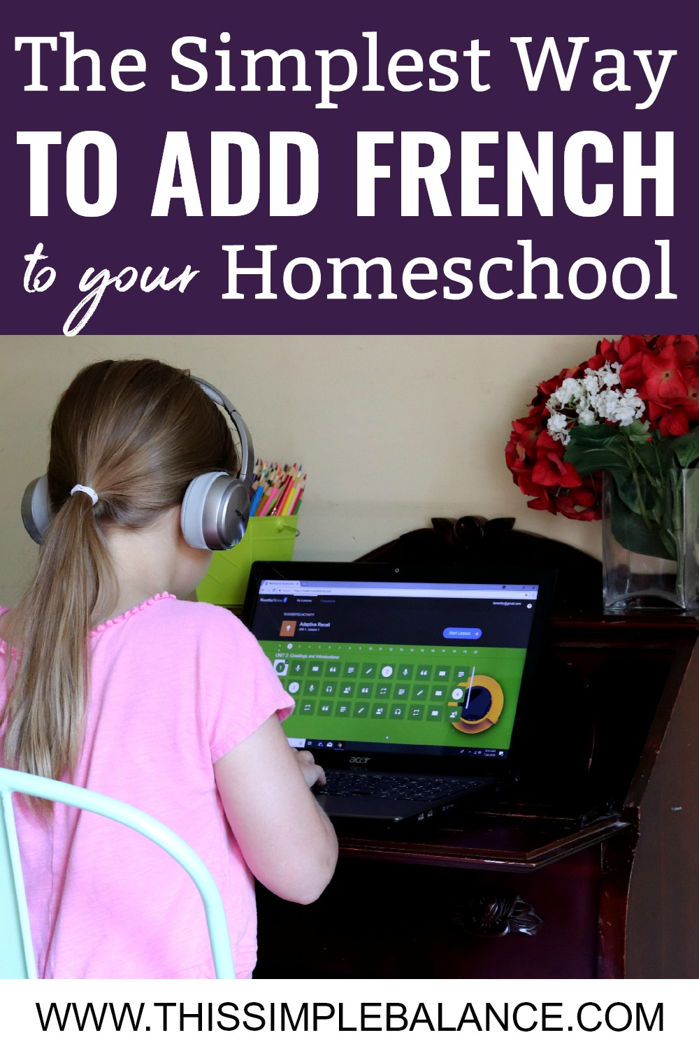 Do you want to homeschool French, but don't have time to teach it yourself? Your kids can learn French independently using Rosetta Stone Homeschool. It's the easiest way to add foreign language learning to your homeschool.