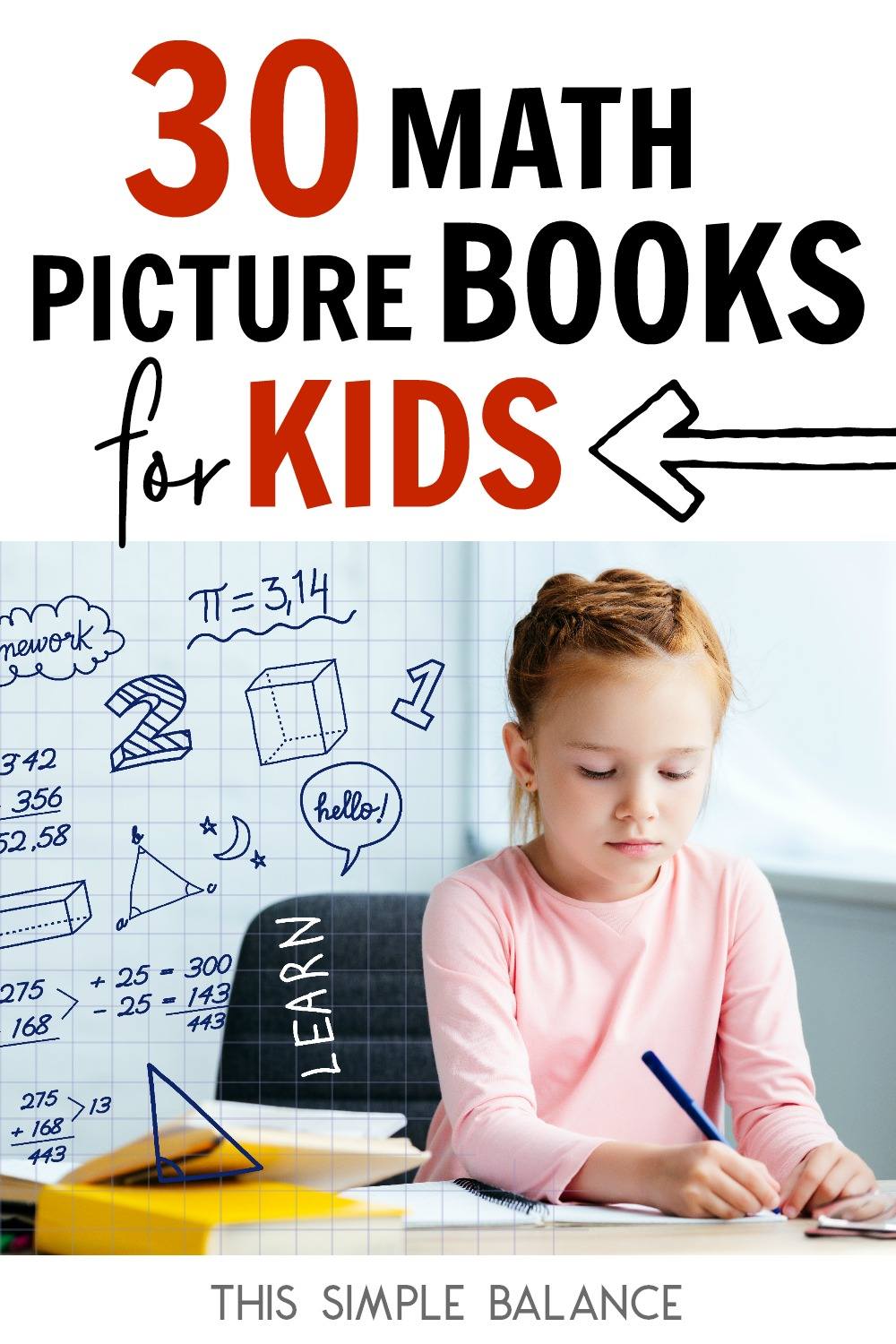 30 Math Books for Kids: perfect for helping elementary school kids make important math connections and build math confidence.