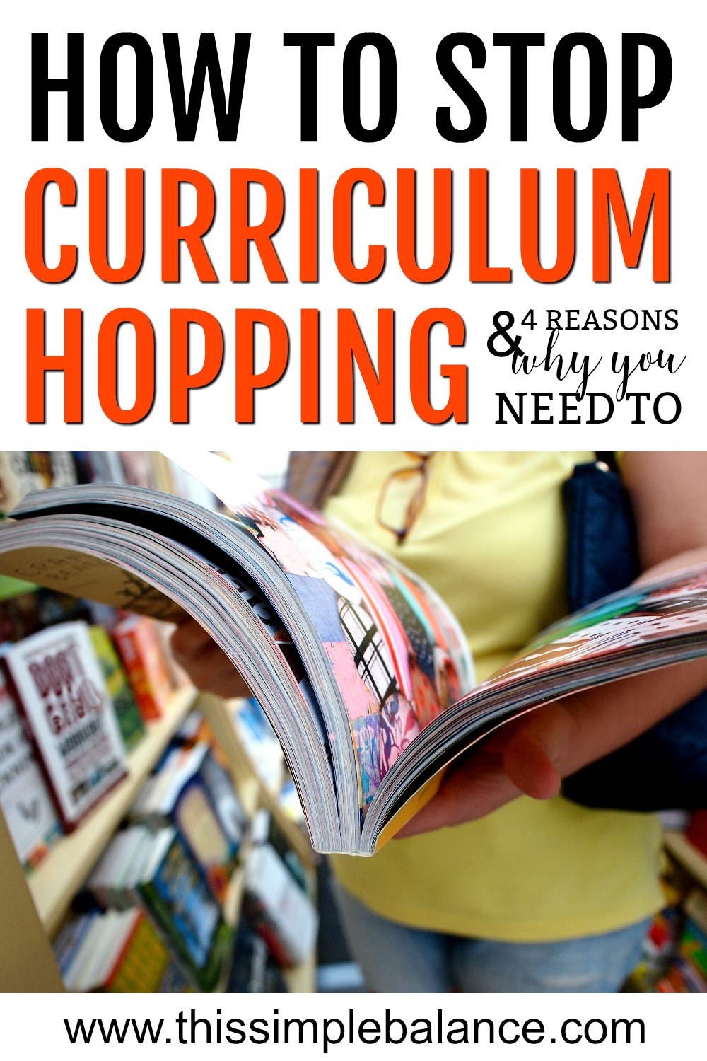 Do you frequently change homeschool curriculums, even when there isnt a great reason to change? Learn how to stop curriculum hopping and how to love the homeschool curriculum you already have.