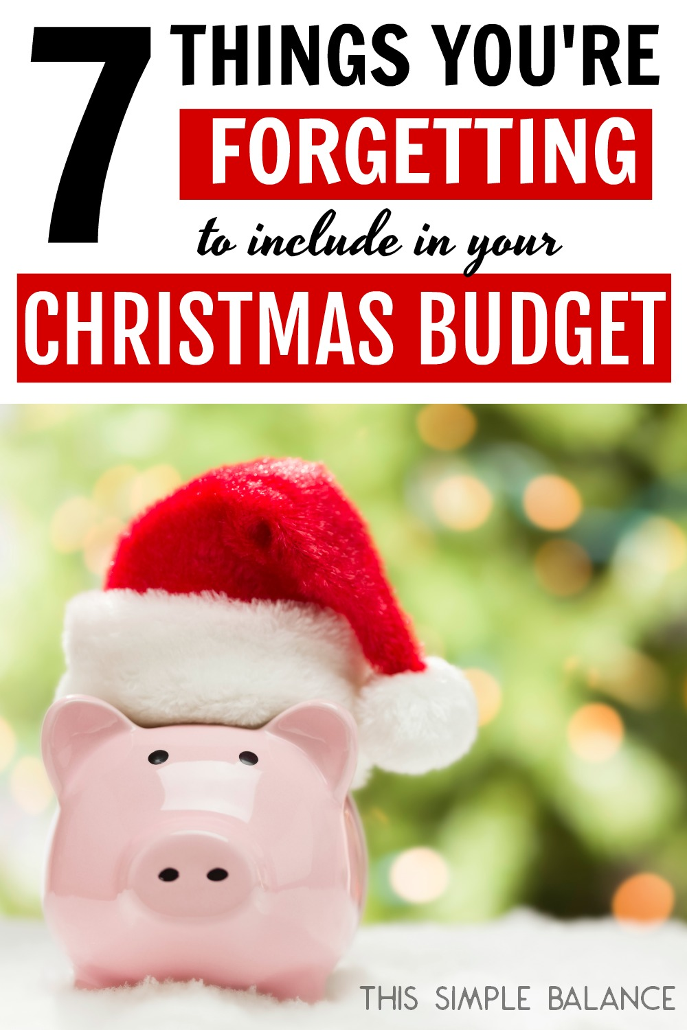 Is your Christmas budget really realistic? If you arent including these 7 items, it probably isnt. Make this a debt-free Christmas by setting an accurate budget!
