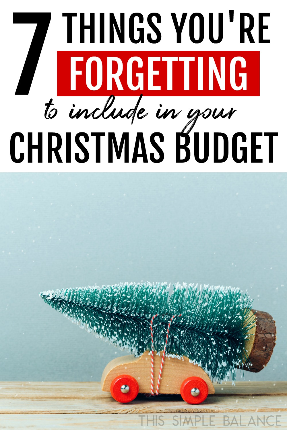 Do you have a realistic Christmas budget? Not if you only thought about the Christmas gifts. These 7 things are common Christmas expenses you need to factor into your Christmas budget or you will spend far more than you planned!