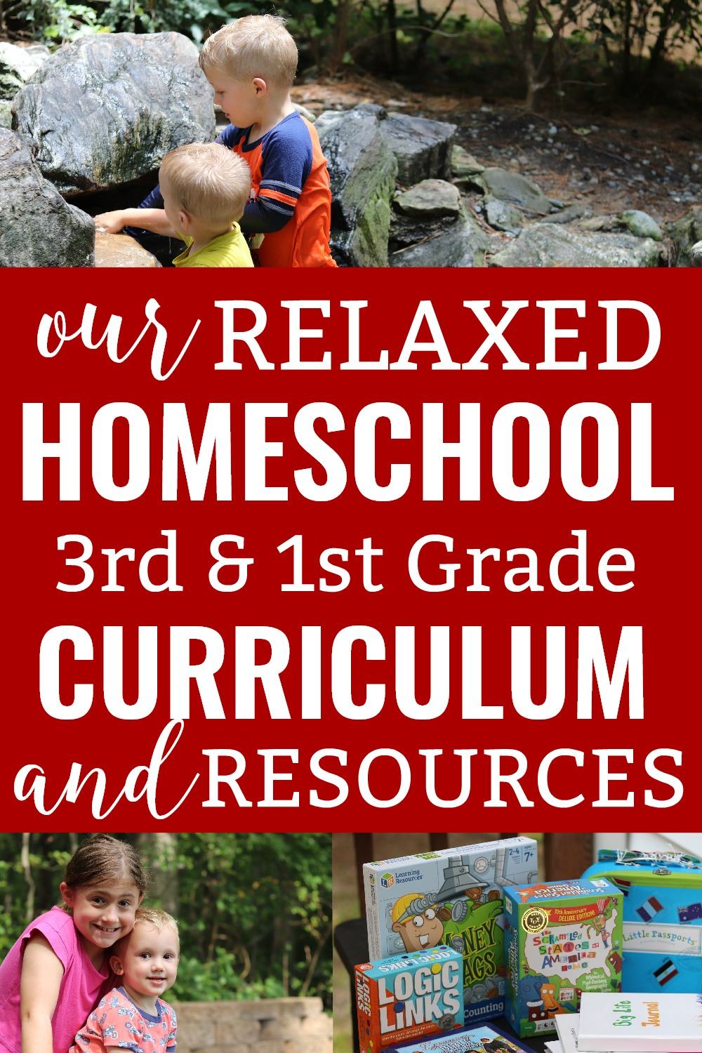 Homeschooling third grade or first grade? Get ideas for homeschool curriculum and additional resources you can use in your relaxed homeschool!