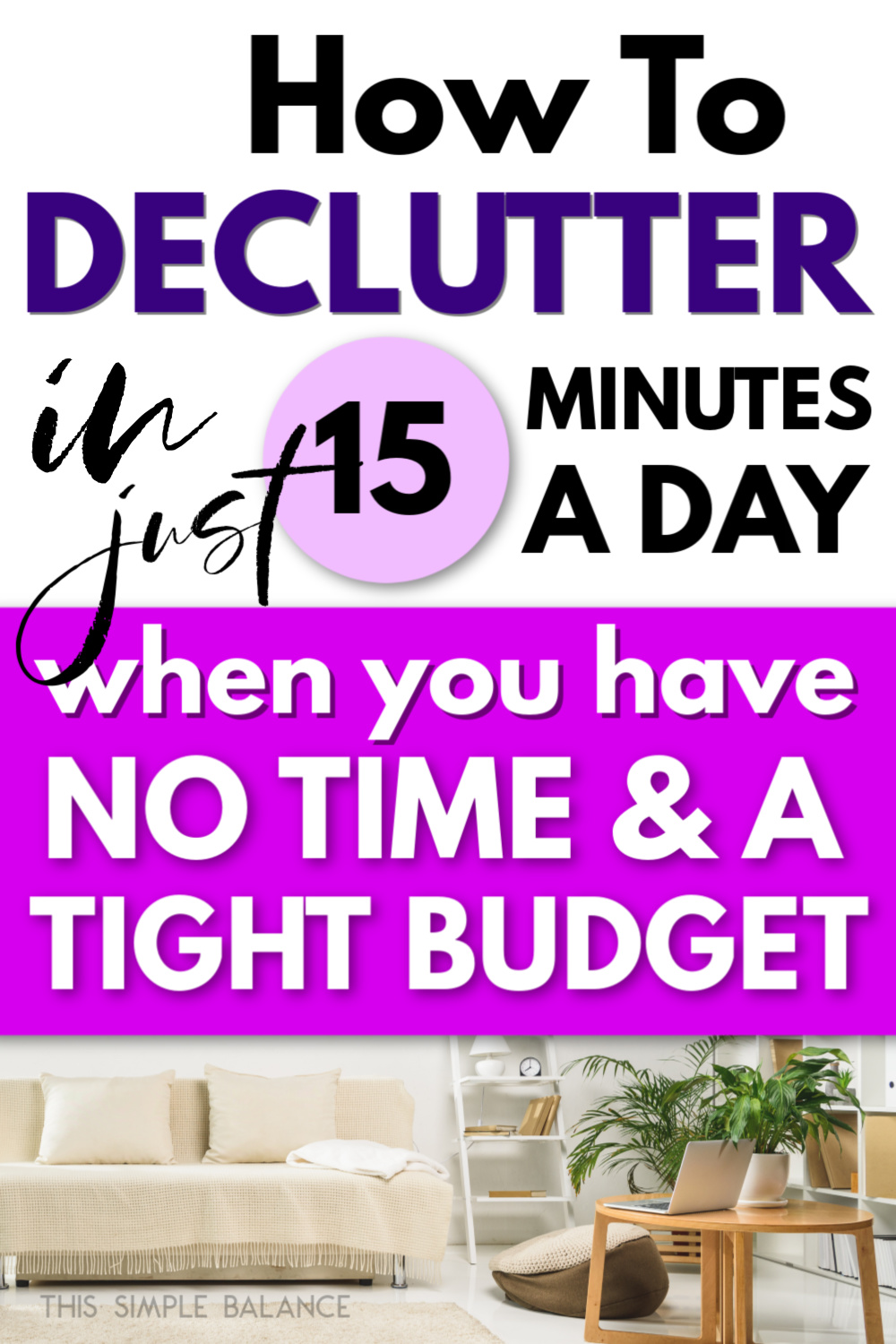 decluttered home