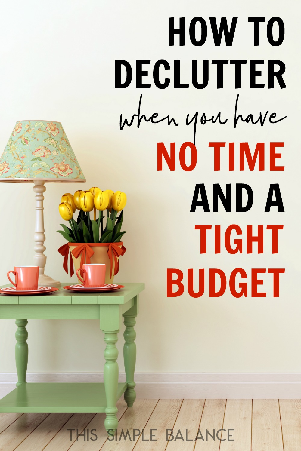 Decluttering with No Time AND on a Tight Budget: So you already have not time, and any time you do have to declutter gets sucked up by decision fatigue because you are afraid you will declutter something you will need later. Sound like you? This decluttering guide is for you!