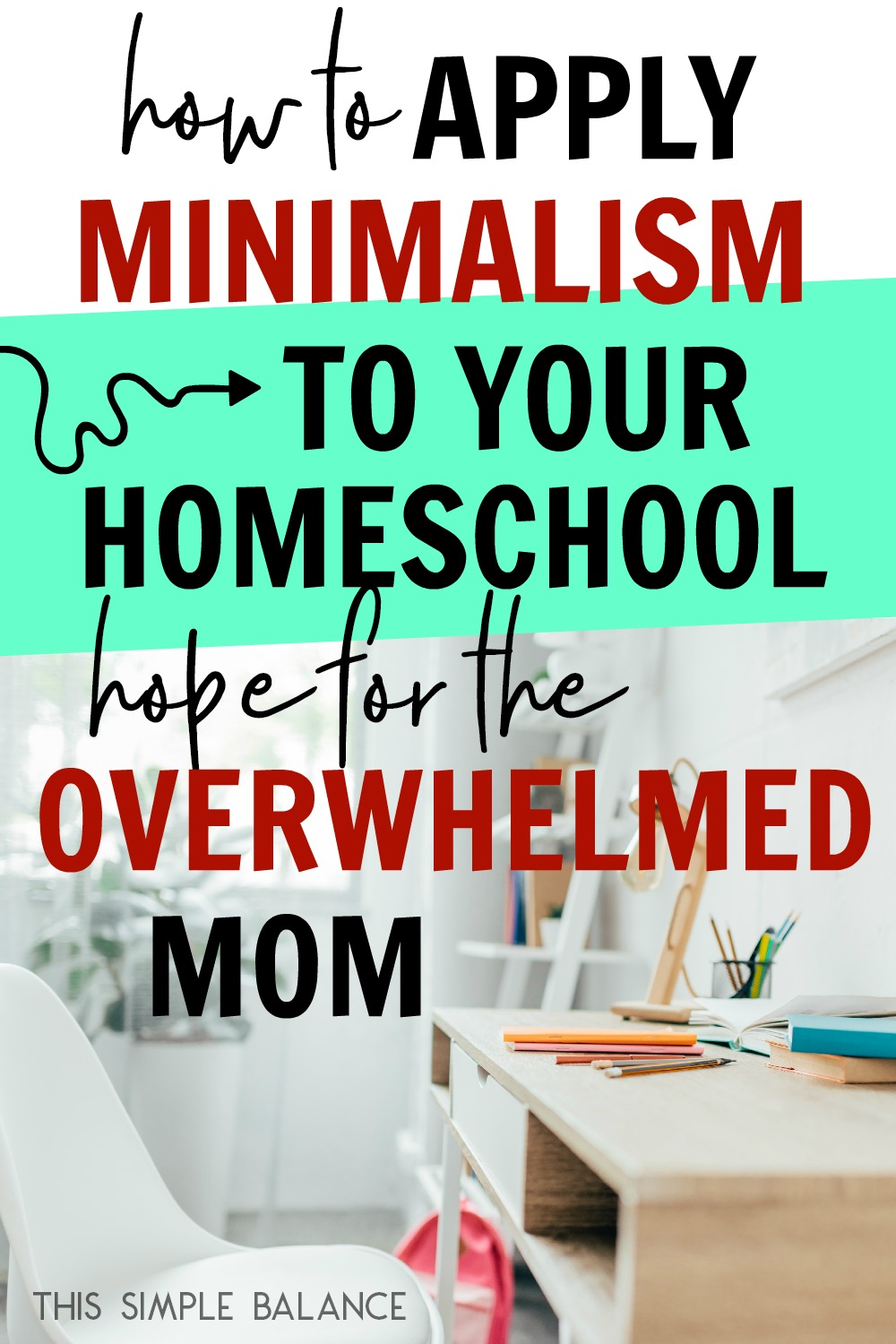 Minimalist homeschooling offers hope to the overwhelmed homeschool mom: get help separating the necessary from the clutter and finally have homeschooling be what you originally wanted it to be (NOT extremely stressful and sanity stealing)