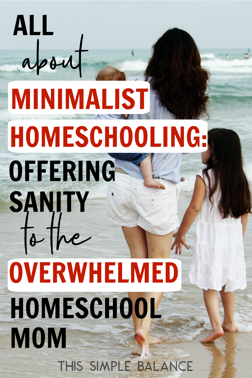 Minimalist homeschooling can seriously save your sanity homeschool mom. Learn what minimalist homeschooling is, what its not, and how to start eliminating the homeschool overwhelm!