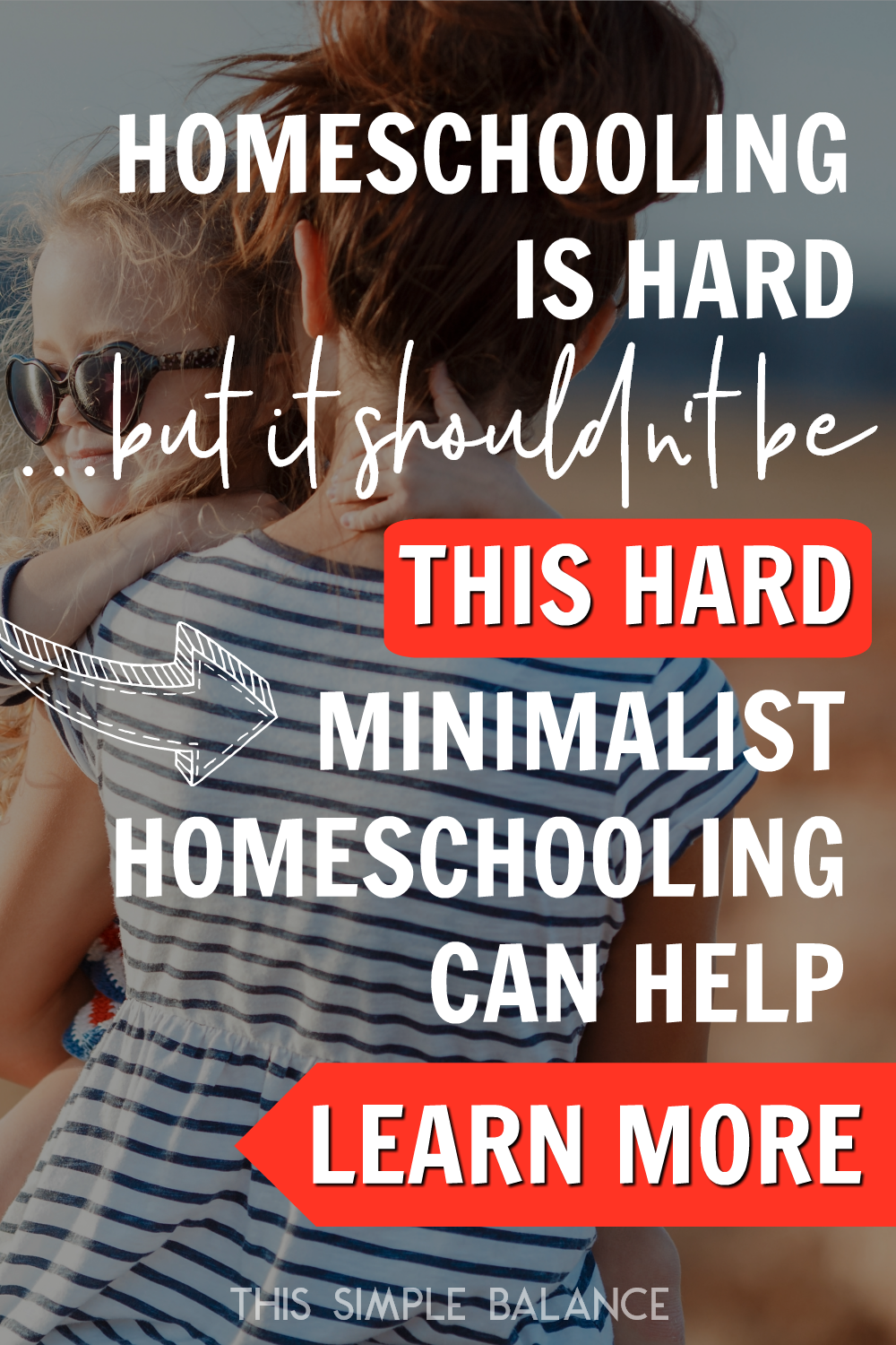 Does homeschooling feel really difficult? Wondering if it should really be this hard? Minimalist homeschooling can help! Click to learn how you can get your homeschool joy back.
