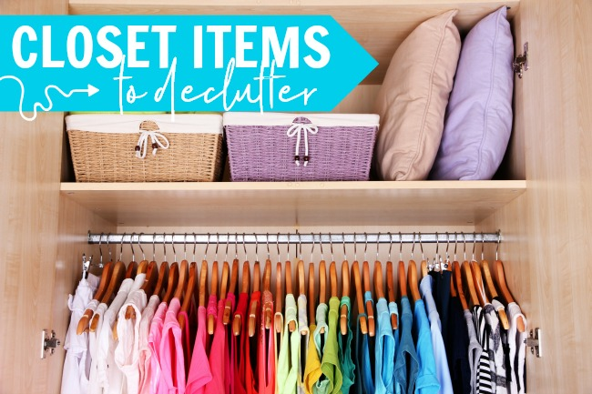closet items to declutter