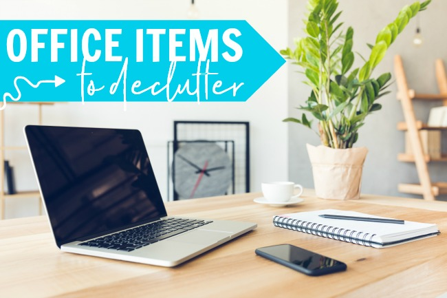 decluttering checklist office items