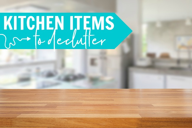 decluttering checklist kitchen