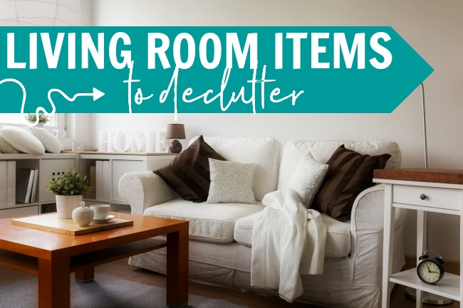 declutter your home checklist living room