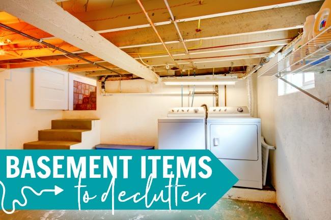 home decluttering checklist basement