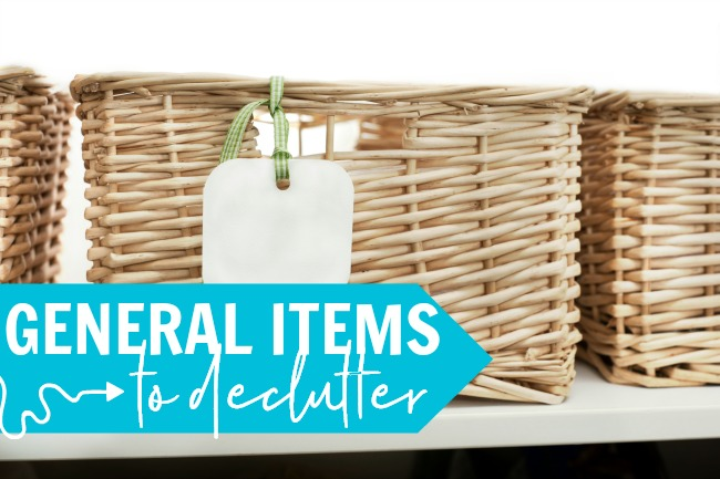 general items decluttering checklist