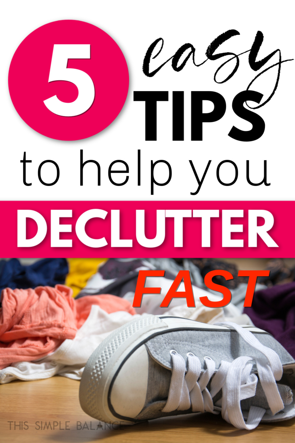 floor covered with clothes clutter that needs to be decluttered