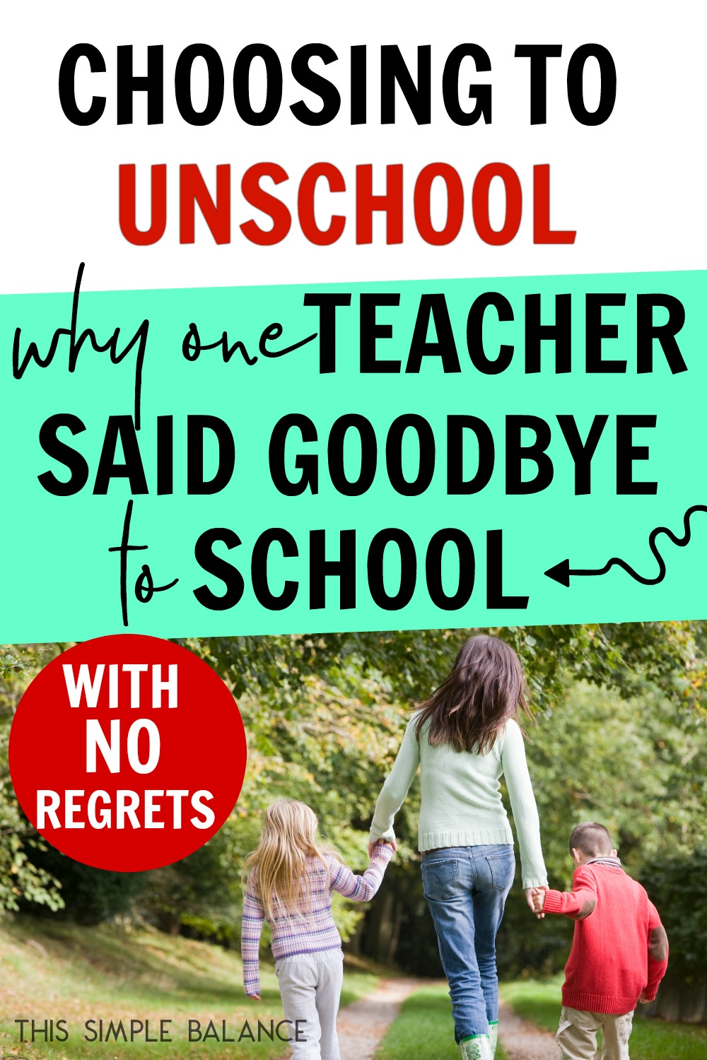 Unschooling isn't just for radicals. Down to earth, former teachers choose unschooling, too. Get the full story on why a former teacher walked away from traditional education, and why she's LOVING it!