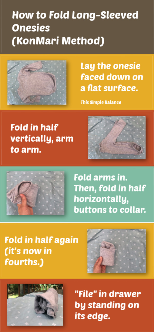 infographic how to fold a baby onesie