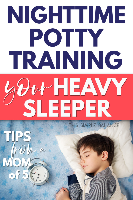 heavy sleeper needing alarm for nighttime potty training