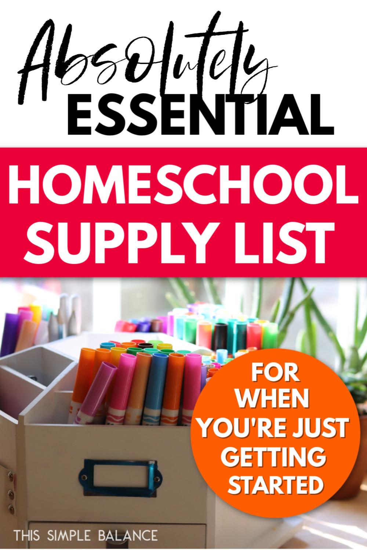 homeschool art supplies