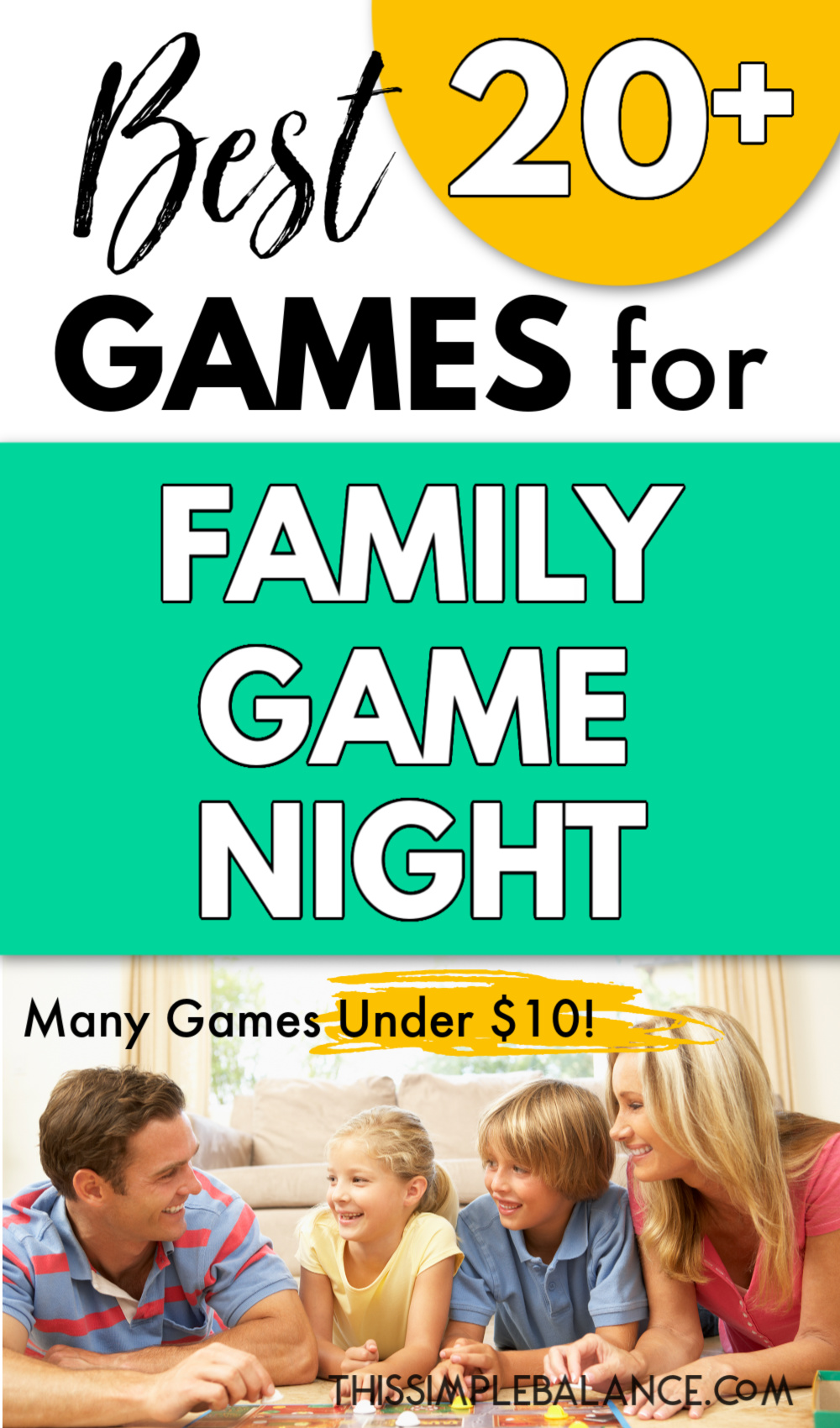 family playing games together on family game night