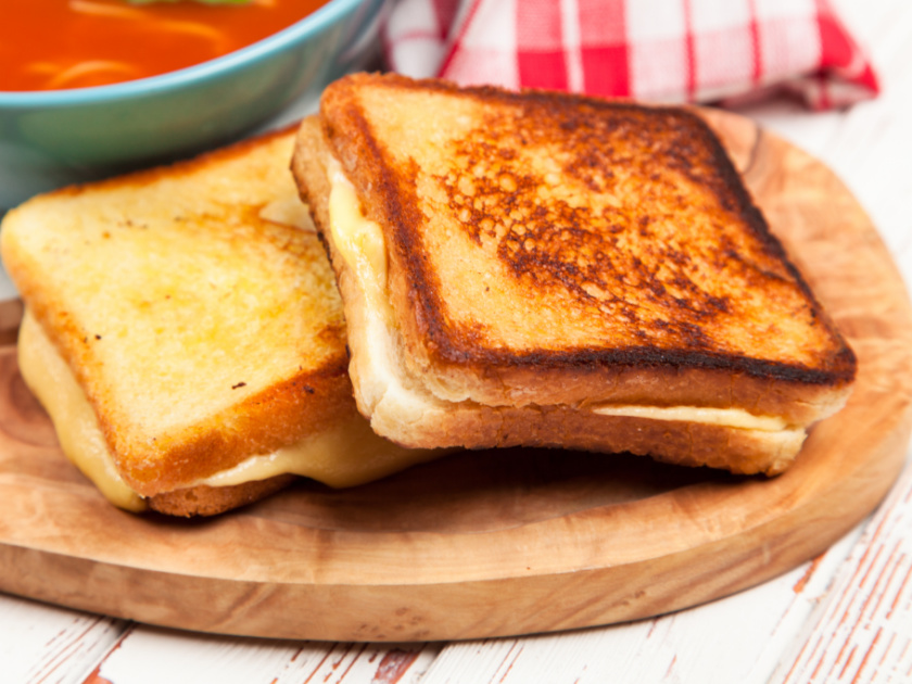 grilled cheese sandwich for homeschool lunch