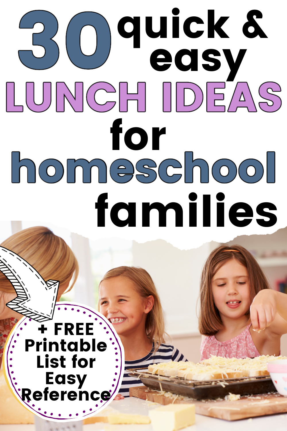 homeschool kids making quick and easy lunch