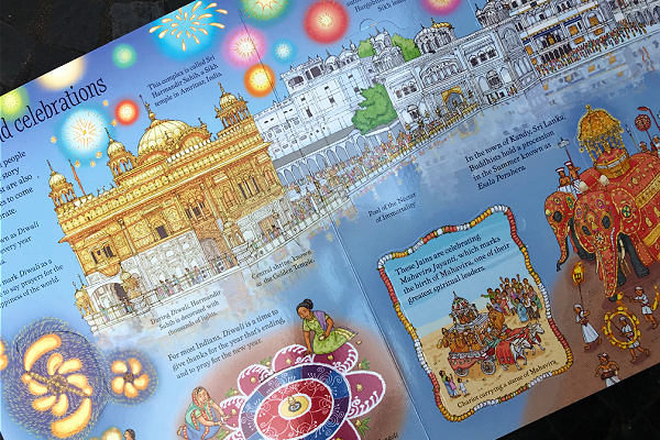 celebrations page in lift-the-flap World Religions book