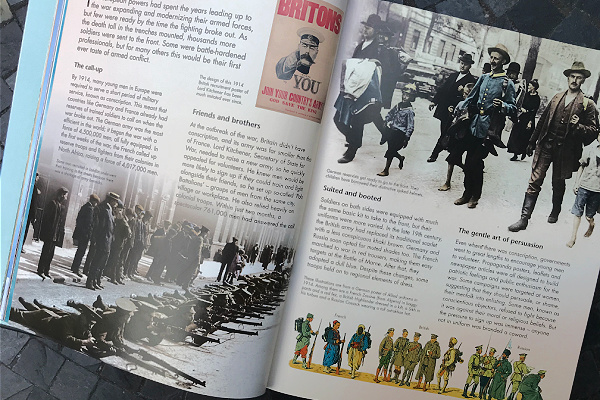 page in the World Wars Usborne book